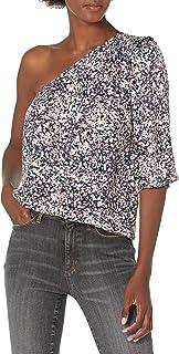 Goodthreads Camiseta Tejida de Sarga fluida con un Hombro Mujer