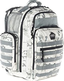 HSD Diaper Bag Backpack for Dad, Large Waterproof Travel Baby Bag for Men + Changing Pad, Insulated Pockets, Stroller Straps and Wipe Pocket. Multi-function, Military Tactical Style (Arctic Camo)