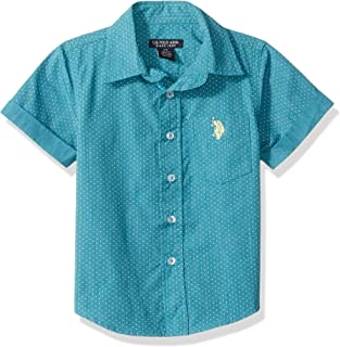 U.S. Polo Assn. Boys' Short Sleeve Striped Woven Shirt