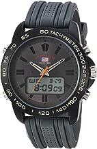 U.S. Polo Assn. Men's Analog-Quartz Watch with Rubber Strap, Grey, 24 (Model: US9655)