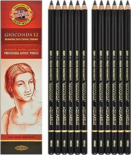Koh-i-noor Gioconda Negro Aquarelle - 12 Water Soluble Graphite Pencils 8800 2B