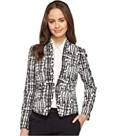 Tahari by ASL - Printed Crepe Jacket