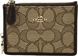 COACH - Box Program Signature Jacquard Mini ID Skinny