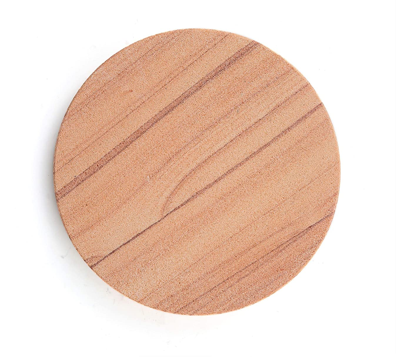 Thirstystone Brand-Cinnabar, Multicolor All Natural Sandstone-Durable Stone with Varying Patterns, Every Coaster is an Original, 4 inches,