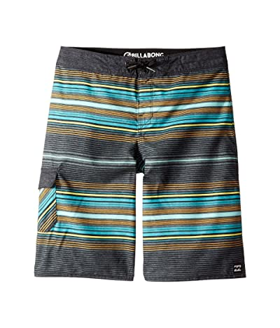 Billabong Kids All Day Stripe OG Boardshorts (Big Kids) (Charcoal) Boy