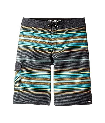 Billabong Kids All Day Stripe OG Boardshorts (Big Kids) (Charcoal) Boy