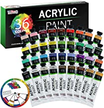 U.S. Art Supply Professional 36 Color Set of Acrylic Paint in Large 18ml Tubes - Rich Vivid Colors for Artists Students Be...