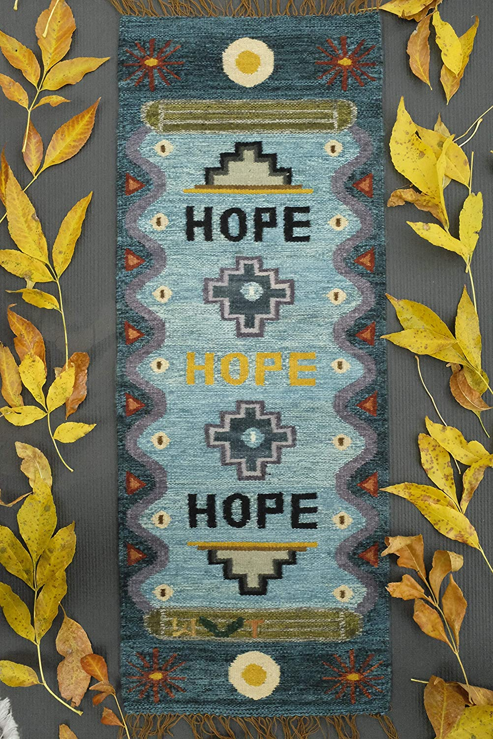Handmade Hope Tapestry Product - Naturally Dyed Eco Max 46% OFF Wool Organic Consc