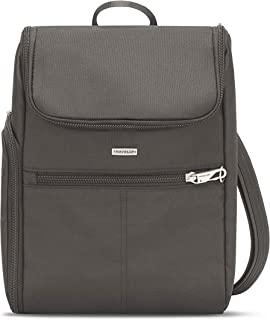 Travelon Anti-Theft-Classic Small Convertible Backpack, Gray, One Size