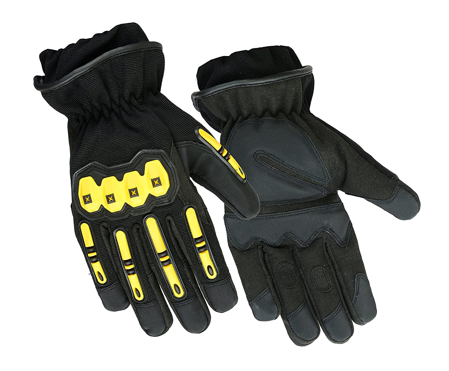 Precinct One Fire Resistant Leather Extrication Hard Knuckle Protective Glove with Kevlar Liner for Police and Firefighters