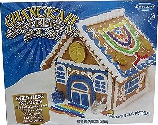 Chanukah (Hanukkah) Gingerbread House with Dreidel and Chocolate Gelt Kosher