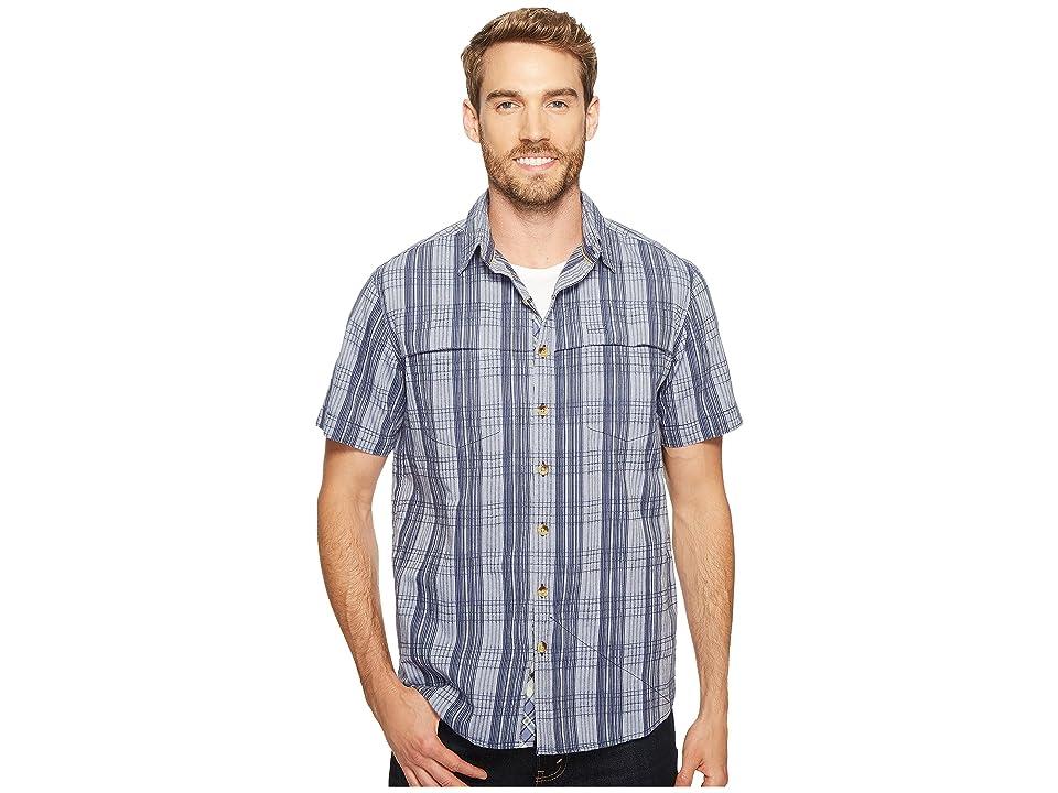 Ecoths Travis Short Sleeve Shirt (Vintage Indigo) Men