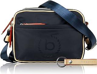 bugatti Lido Kleine Schultertasche mit RFID Fach für Damen, Navy Blau