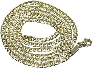 Never Say Never Collana in oro giallo massiccio da 18 carati, 7,75 g e 60 cm, da uomo.