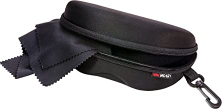 NoCry Storage Case for Safety Glasses with Felt Lining, Reinforced Zipper and Handy Belt Clip
