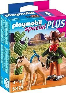 Playmobil- Cowboy with Foal Especial Vaquero con Potro, Color, Miscelanea (5373)