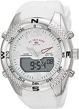 U.S. Polo Assn. Men's Analog-Quartz Watch with Rubber Strap, White, 26 (Model: US9663)