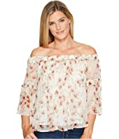 Lucky Brand - Shirred Off Shoulder Top