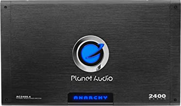 Planet Audio AC2400.4 4 Channel Car Amplifier - 2400 Watts, Full Range, Class A/B, 2-4 Ohm Stable, Mosfet Power Supply, Bridgeable
