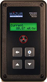 Mazur Instruments PRM-8000 Handheld Geiger Counter and Nuclear Radiation Monitor, 0.001 to 200 mR/hr Range, +/-10 Percent Accuracy