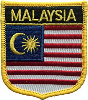 Malaysia Flag Shield Travel Patch (Malaysian Crest, 2.75