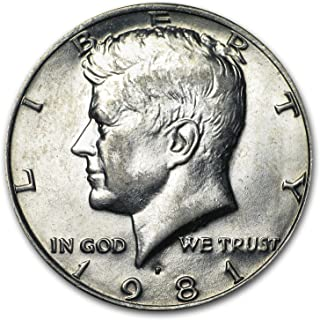 1981 P Kennedy Half Dollar BU Half Dollar Brilliant Uncirculated