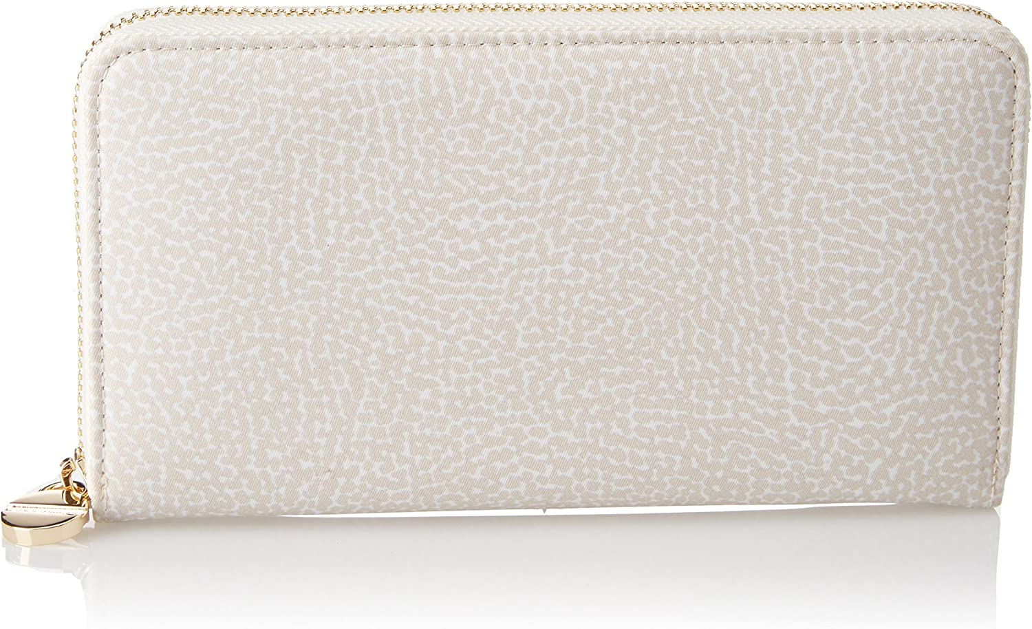 Borbonese P.foglio Zip Around, Women's Wallet, OffWhite (Cream), 19x11x2 cm (W x H x L)