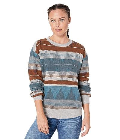 Prana Cozy Up Printed Sweatshirt (Blue Note Eldorado) Women