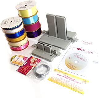 Ultimate Bow Making Kit: Large Bowdabra Bow Maker, Mini Bowdabra Bow Maker, Bow Wire, and 10 Assorted Ribbons (Colors/styles May Vary)