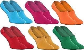 Rainbow Socks, Mujer Hombre - Coloridos Bunte Calcetines Barco Invisibles de Algodón