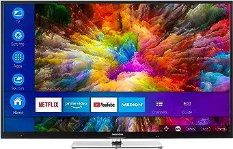 MEDION X15504 138,8 cm (55 Zoll) UHD Fernseher (Smart-TV, 4K Ultra HD, Dolby Vision HDR, Netflix, Prime Video, WLAN, HD Triple Tuner, DTS Sound, PVR, Bluetooth)