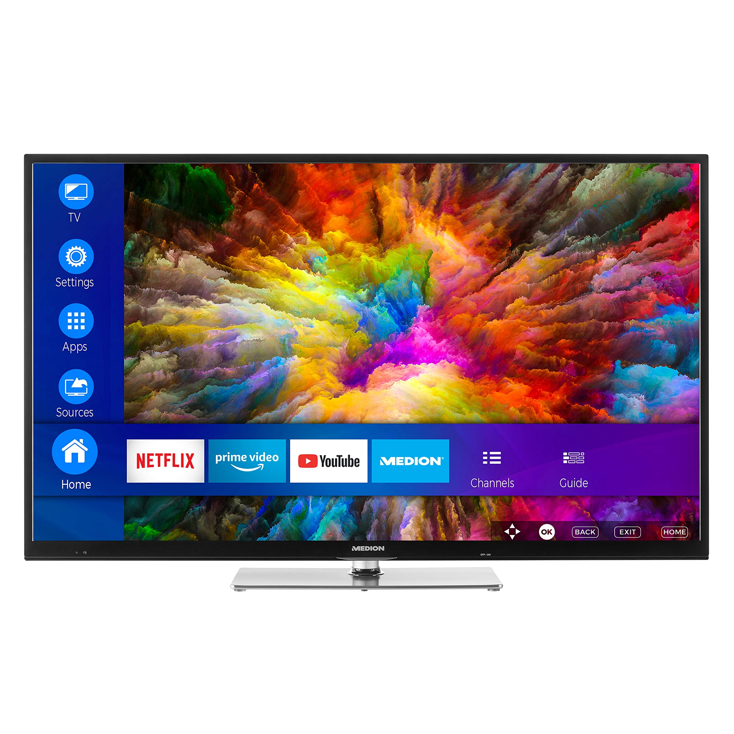 MEDION Serie X (UHD) Televisor (Smart TV, 4K Ultra HD, Dolby Vision HDR, sintonizador Triple, DVB-T2 HD, Netflix App, Prime Video, PVR, Bluetooth): Amazon.es: Electrónica