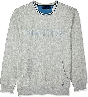 Nautica Men's CN Logo KNGR PO Grey HTHR