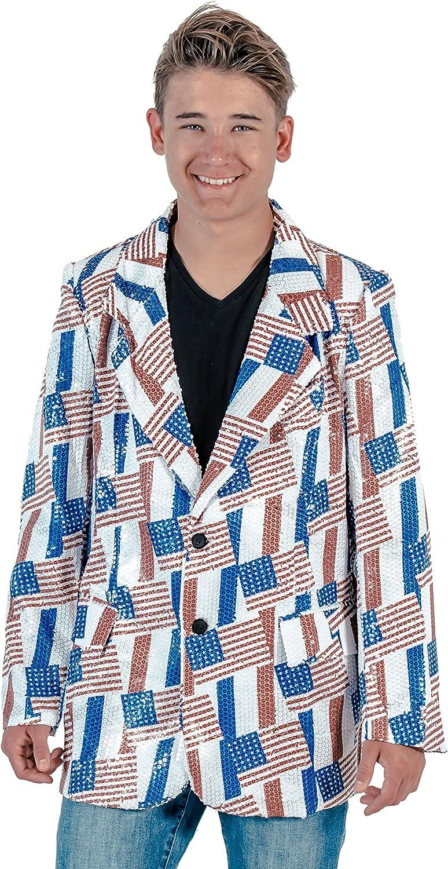 American Flag Sequin Jacket Blazer