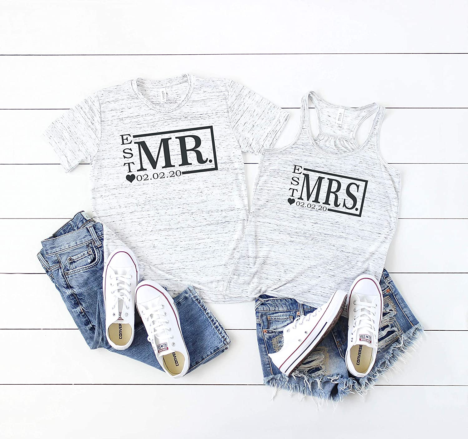 Popular shop is the lowest San Diego Mall price challenge Mr. and Mrs. couples shirt tank groom t-shirt bride top