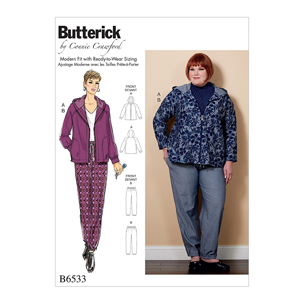 Butterick Patterns B6533MIS Miss/Women's Jacket and Pant, MIS (XSM-SML-MED-LRG-XLG)
