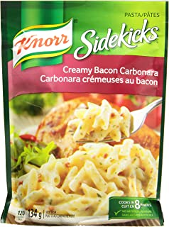Knorr Sidekicks Cream Bacon Carbonara Pasta 134g/4.72 Ounces 8 count {Imported from Canada}