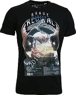 Men's Black T-Shirts Brave Revival Tour