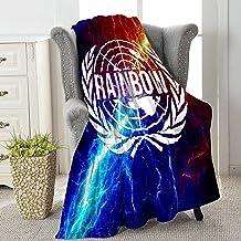 RealRiRi قوس قزح ستة الحصير الفانيلا الصوف رمي بطانية للسرير أريكة الأريكة سيارة