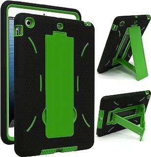iPad Mini Case, iPad Mini 2/3 Case - Bastex 3in1 Hybrid Shockproof Kickstand Case for iPad Mini 1/2/3 (Green/Black)