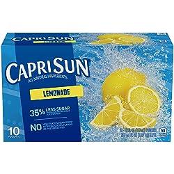 Capri Sun Lemonade Flavored Juice Drink Blend, 10 ct - Pouches, 60.0 fl oz Box
