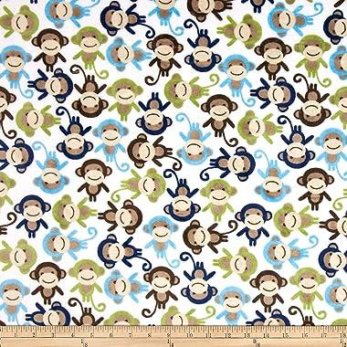 Robert Kaufman Shannon Kaufman Minky Cuddle Monkey Midnight Fabric By The Yard