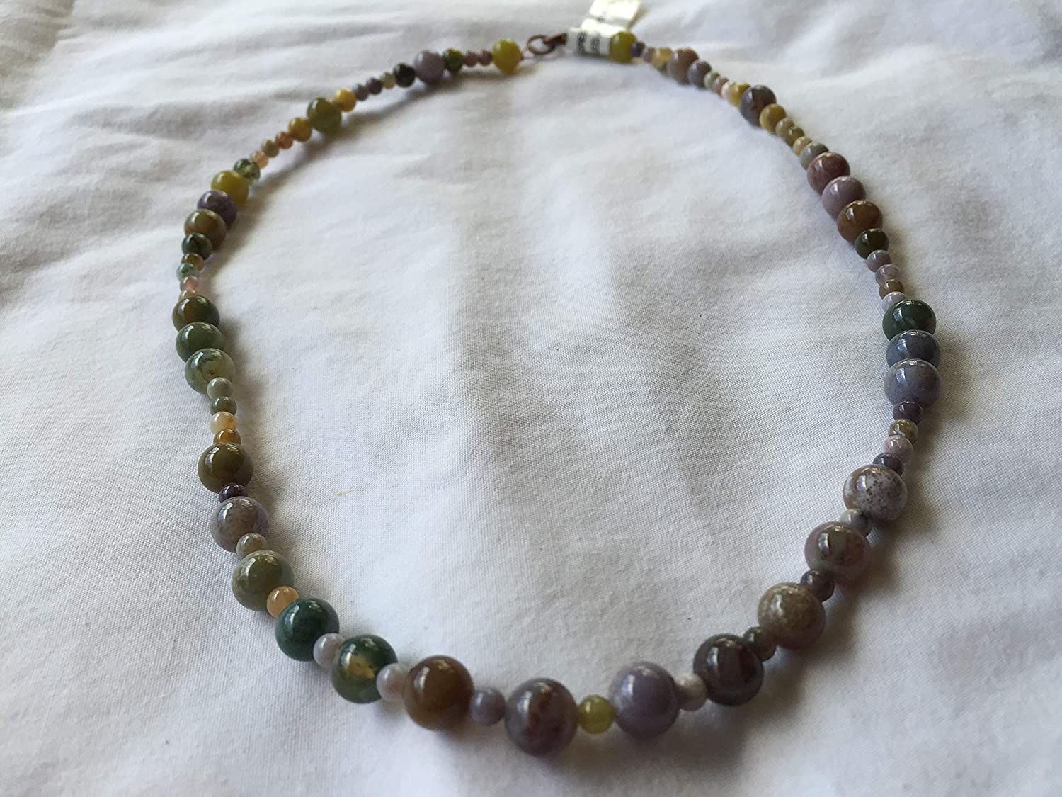 Green and Brown Jade Inch Necklace Beaded 20 Super sale period limited Outstanding