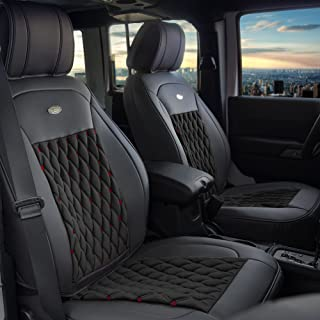 FH Group PU204102 Victorian Style Luxurious Leatherette Cushion Pad Seat Covers- Fit Most Car, Truck, SUV, or Van