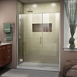 DreamLine Unidoor-X 45-45 1/2 in. W x 72 in. H Frameless Hinged Shower Door in Brushed Nickel, D1251472-04