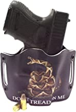 Infused Kydex USA: Don't Tread On Me Black OWB Holsters with Built in Belt Loops for More Than 150 Different Handguns. Left & Right Versions Available.