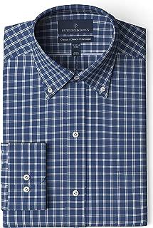 Amazon Brand - BUTTONED DOWN Men's Classic Fit Plaid Dress Shirt, Supima Cotton Non-Iron
