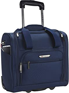 TPRC 15-Inch Smart Under Seat Carry-On Luggage with USB Charging Port, Navy Blue, Underseater
