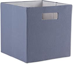 DII Poly-Cube Storage Collection Hard Sided, Collapsible Solid, Small, Stonewash Blue