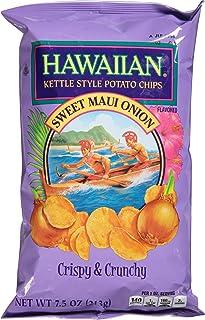 Hawaiian Kettle Style Potato Chips, Sweet Maui Onion, 7.5 Ounce